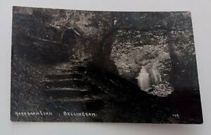 Vintage  Pre  1914  Real  Photograph  Postcard   Hareshaw Linn  Bellingham