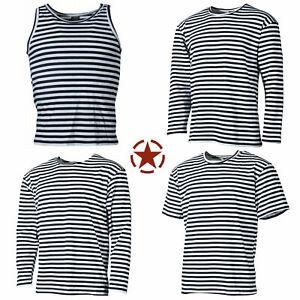 NEU Russische Marine T-Shirt Telnjaschka langarm halbarm Sommer Winter S-6XL