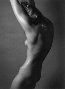 GARY WATERS SIGNED RUTH BERNHARD INSPIRED NUDE STUDY 11X14  PHOTOGRAPH