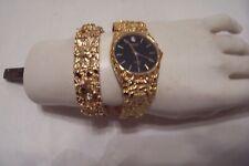 Watch & Matching Bracelet Gruen Gold Plated Nugget