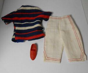 Vintage Ideal Tammy Doll Clothes Picnic Party Shirt Pants One Shoe TLC