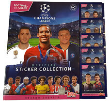 Topps Champions League Sticker 2019/2020 Stickeralbum + 5 Booster 19/20