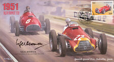 1951a Spanish Fangio F1 Cover signed Nigel ROEBUCK