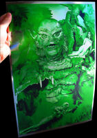 Creature from the Black Lagoon rare METALLIC FOIL PRINT 11x17 Classic Monsters