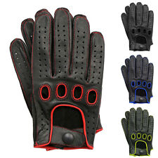 MEN'S GENUINE TOP QUALITY LEATHER DRIVING GLOVES SWIFT WEARS