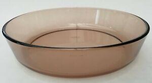 Pyrex Corning Brown Smoked Glass Large Deep Pie Casserole Dish 25cm