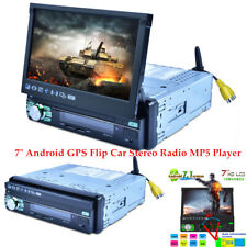 """Single 1Din 7"""" Android GPS Car Stereo Radio MP5 Player Touch Screen Retractable"""