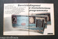 P546 - Advertising Pubblicità -1973- FIAT , SERVIZIO DIAGNOSI
