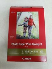 "CANON PHOTO PAPER PLUS GLOSSY II  4"" x 6""  1  BOX = 100 Sheets"