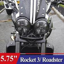 """2x 5.75"""" Black Triumph Speed/Street Triple, T509, 955, Rocket 3, LED headlights"""