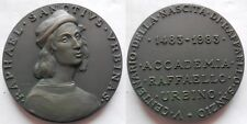 medaglia V centenario della nscita di Raffaello anzio accademia Urbino 1483-1983