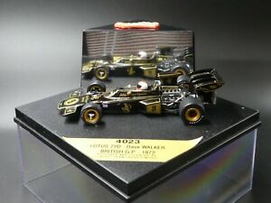 Quartzo 1:43 Dave Walker Lotus 72D British GP F1 1972 JPS livery 4023
