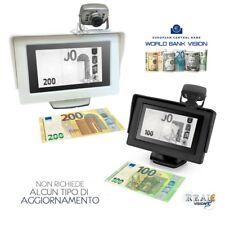 Rilevatore Banconote False Bank Vision Euro World Monitor Telecamera Scanner