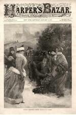 Buying Christmas Greens  -   Holly  -  Wreaths - by W. P. Snyder  -  1889