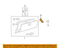 Toyota 55054-33060 Glove Compartment Door Stopper Sub-Assembly