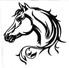 WINDOW, CAR, VEHICLE, TRAILER, TRIBAL  HORSE VINYL DECAL