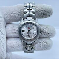Tag Heuer WT1312 Ladies Link Wrist Watch Full Kit Box Papers Refurbished silver