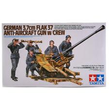 Tamiya German 3.7cm Flak 37 Anti-Aircraft Gun Model Set (Scale 1:35) 35302 NEW