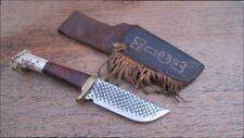 Vintage Custom MICK Scagel-style File-Blade Carbon Steel Hunting - RAZOR SHARP