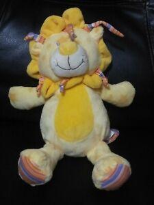"KELLYTOY Yellow Stars Lion 12"" Plush Toy Stuffed Animal"