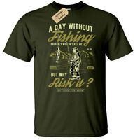 A Day Without Fishing Mens T-Shirt funny fisherman gift angling fisher man top