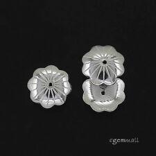 6 Sterling Silver Flower Bead Cap ap. 8mm #97864