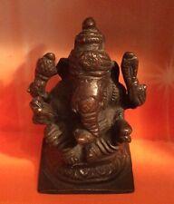 Beautiful Hollow Cast Bronze Figure Of The Hindu God Ganesha 8cm High (907)
