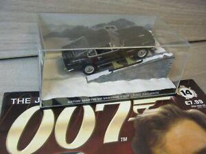 JAMES BOND CAR COLLECTION ASTON MARTIN V8 VANTAGE LIVING DAYLIGHTS #14+MAGAZINE