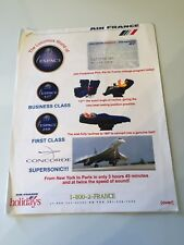 Air France Collectible Serious Collectors Only Handouts from Convention Booth