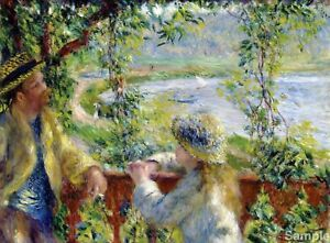 By The Water, Auguste Renoir Fine Art Painting Poster Art Print A3 A4