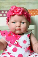 "BABY DOLL GIRL PREEMIE NEWBORN 18"" REBORN VINYL SILICONE REAL(LAST EDITION DOLL)"