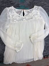 "Sundance Catalog ""Guinevere"" Women's Lace Tunic Ivory Brand New"