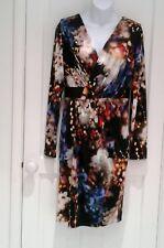 Gorgeous Floral COAST Dress With Faux Leather Trim 10