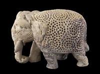 Soprammobile Elefante IN Pierre-2kg200-Top Qualità- India-Pietra Intaglio- 1244