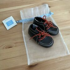 JANIE AND JACK Woodland Fox Brown Crib Shoes Size 3 (6-12 Months) EUC