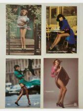 4 carte postale publicitaire pub Dim femme lingerie collants bas
