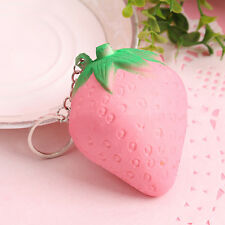 1pcs Pink Squishy Strawberry Scented Rising Toy Cell Phone Charms Pendant Strap