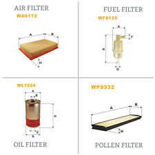 WIX AIR POLLEN OIL & FUEL Filter Service Kit WA6172,WP9332,WL7004,WF8125