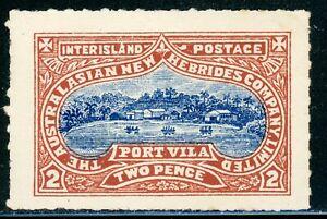 Australasian New Hebrides Company Limited Interisland Postage PORT VILA 2p $$$