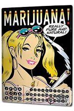 Perpetual Calendar Girl FeliX Marijuana Tin Metal Magnetic