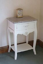 Devon French Style Lamp Table Shabby Chic With 1 Drawer & Cream Painted Finish