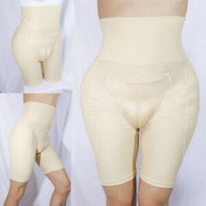 Mens Gay Body Shaping Pants Hiding Gaff Panty Lifter Waist Thicken Hip Underwear