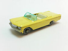 Moko Lesney Matchbox 1-75 Series 39 Yellow Pontiac Convertible GPW Near Mint