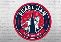 Pearl Jam Official 2018 Boston Fenway Park Tour Concert Away Shows Sticker