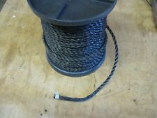 """Military Truck Trailer M35A2 M923 M101/105 Cargo Cover Rope 3/8"""" Black 260' Roll"""