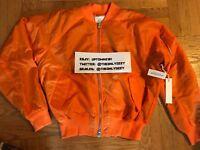 PACSUN X FOG FEAR OF GOD BOMBER JACKET ORANGE SZ XL flannel jeans jacket shirt t