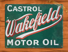 "TIN SIGN ""Castrol Wakefield"" Oil Vintage Garage Wall Decor"