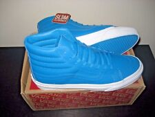 Vans Sk8-Hi Slim Womens Neon Leather Blue Skate Shoes Size 7 NWT VN0A32R2MQX