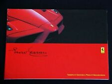 Ferrari Enzo Owners Manual Warranty Card_Service Coupon Book_1858/02_NEW_OEM