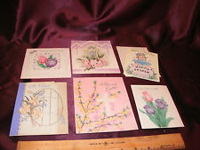 6 vtg 1940's Easter Greeting Cards-Heart to Heart/Quality/GB/Hall Bros-free ship